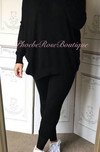 Soft Knit Loungesuit - Black
