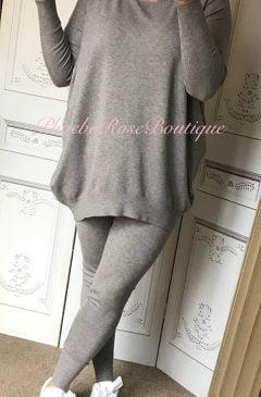 Soft Knit Loungesuit - Grey