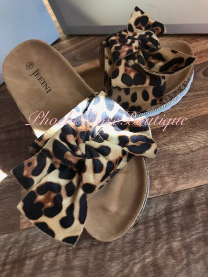 Bow Front Diamante Edge Sliders - Lepo Print