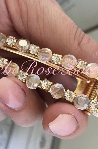 Gold Diamante and Crystal Hair Clip