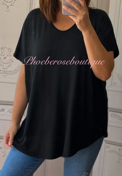 Loose Fit Oversized T-Shirt - Black