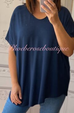 Loose Fit Oversized T-Shirt - Navy