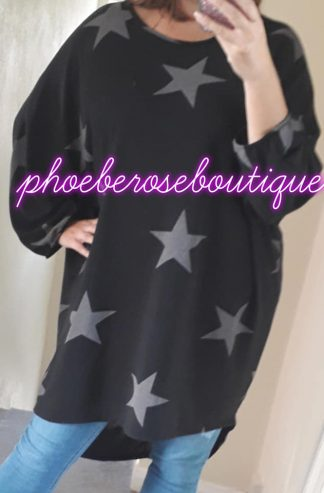 Star Loose Fit Top/tunic - Black