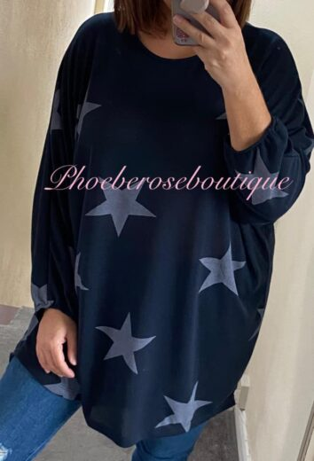Star Loose Fit Top/tunic - Navy