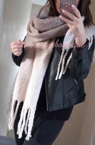 Supersize Soft Blanket Scarf - Blush Mix