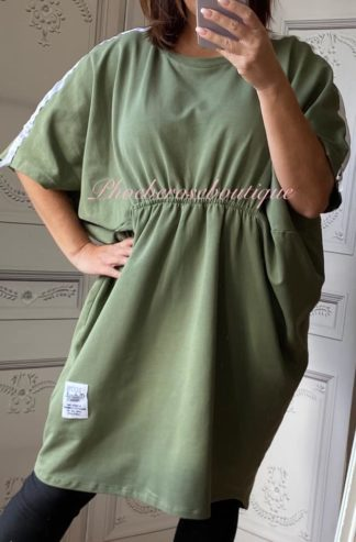 Lux Sports Sweat Feel Tunic/Dress - Khaki