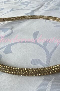 Diamante Super Sparkly Headband - Gold