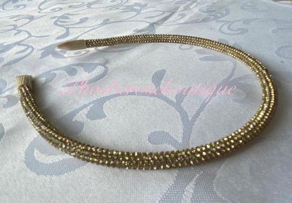 Diamante Super Sparkly Headband - Gold