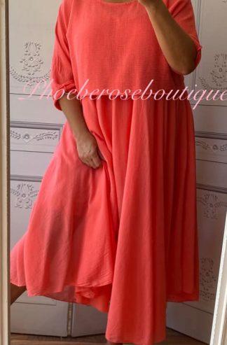 Lux 2 part Dress - Coral