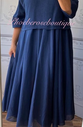 Lux 2 part Dress - Navy