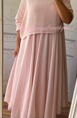 Lux 2 part Dress - Soft Pink