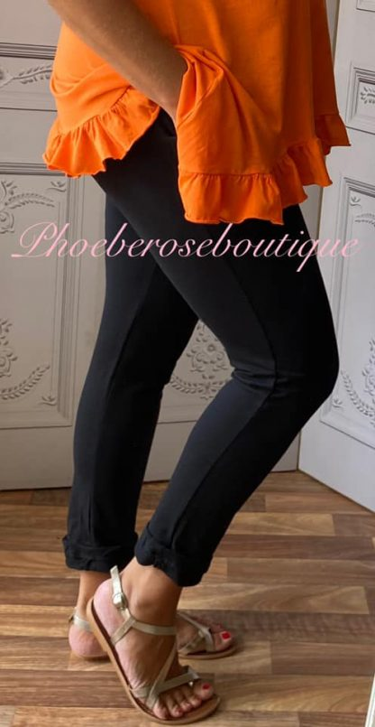 Basic Soft Jersey Pocket Joggers - Black