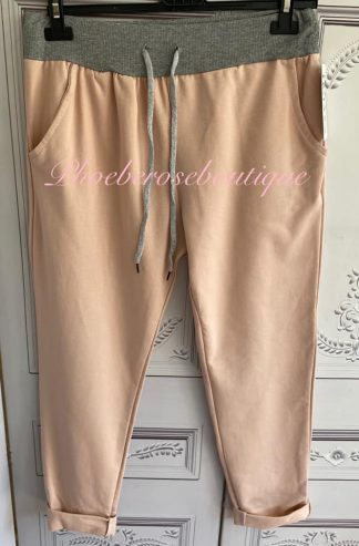 Basic Soft Jersey Pocket Joggers - Soft Pink