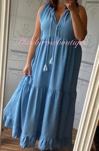Lux Soft Denim Maxi Dress