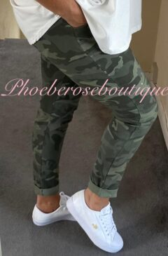 Magic Stretch Joggers - Camo- Khaki