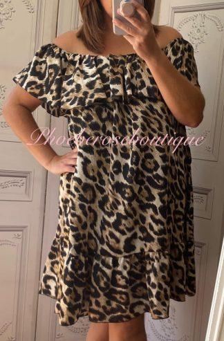 Lux Lepo Frill hem and Bust Bardot Dress