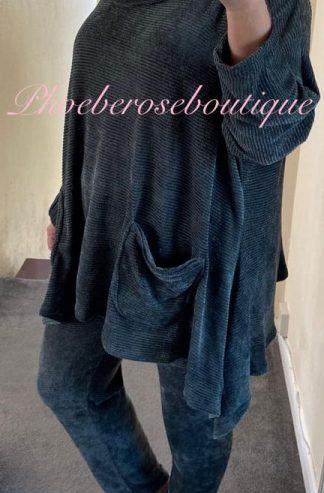 Chenille Hooded Loungesuit - Dark Green