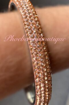 Crystal Solid Bangle - Rose Gold