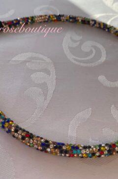Diamante Super Sparkly Headband - Rainbow