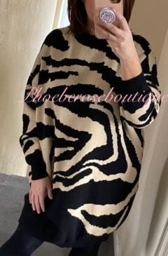 Lux Super Soft Knit Animal Print Dress/Longline Tunic