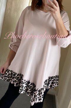 Lepo Frill Hem Asymmetric Top - Soft Pink