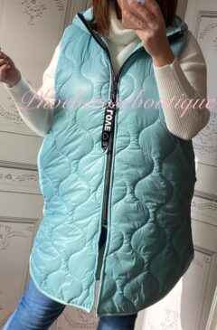 Lux Hooded Padded Gilet - Mint