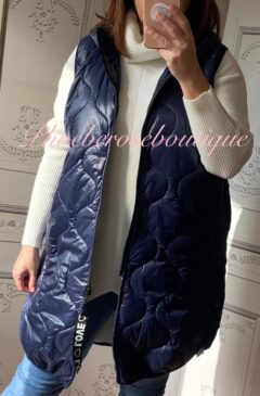 Lux Hooded Padded Gilet - Navy